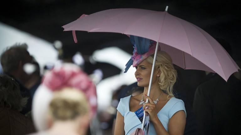 Come rain or shine: the fashion is out on show for day one of the Galway festival in spite of the weather