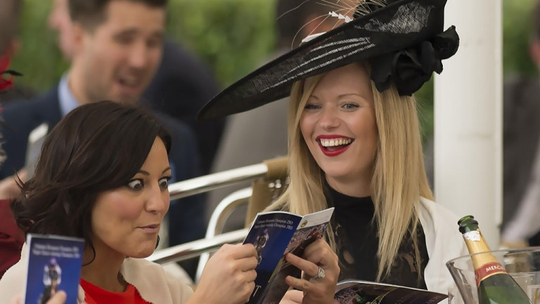 Picking the winners: one racegoer at York looks like she has found a certainty