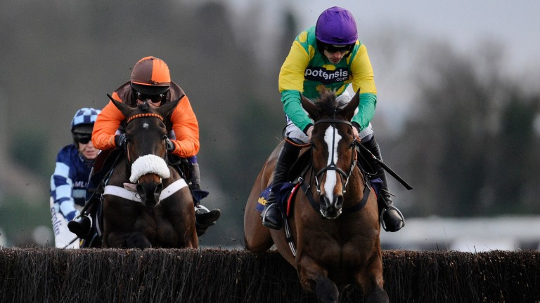 Kauto Star (right)found Long Run too good in the 2010 King George before making amends one year on