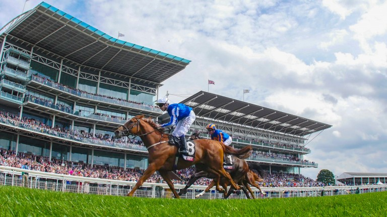 Queen Kindly, one of four European stakes winner supplied by Frankel, lands the Lowther Stakes at York