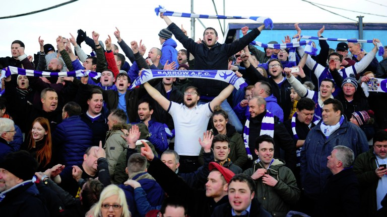 Barrow fans are hoping to celebrate promotion