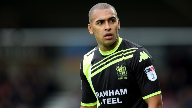 Bury's James Vaughan is the class act in their struggling side