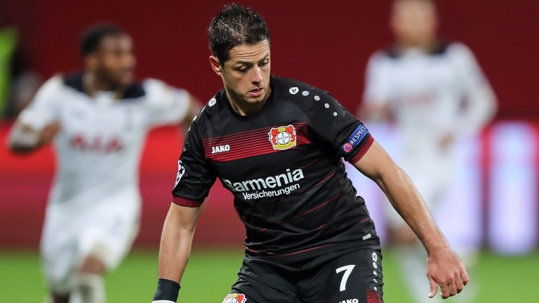 Javier Hernandez is in good form for Leverkusen
