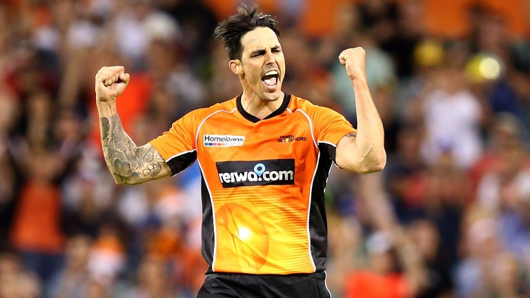 Perth paceman Mitchell Johnson was inspired against the Stars
