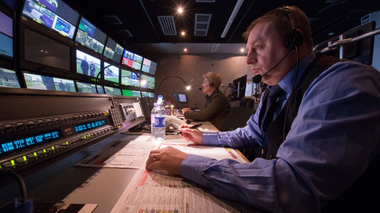 IMG's Channel 4 Racing executive producer Carl Hicks leads coverage from the gallery