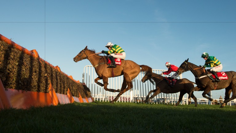 Yanworth (Barry Geraghty) jumps the final flight and wins the Christmas HurdleKempton 26.12.16 Pic: Edward Whitaker