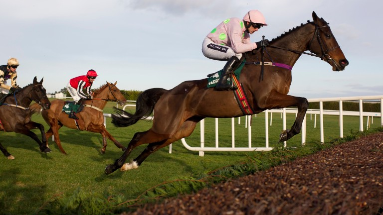 Douvan soars to victory in the Paddy Power Cashcard Chase at Leopardstown
