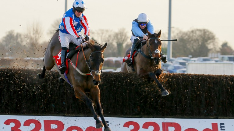 Special Tiara and Noel Fehily (left) clear the last chased by Sir Valentino