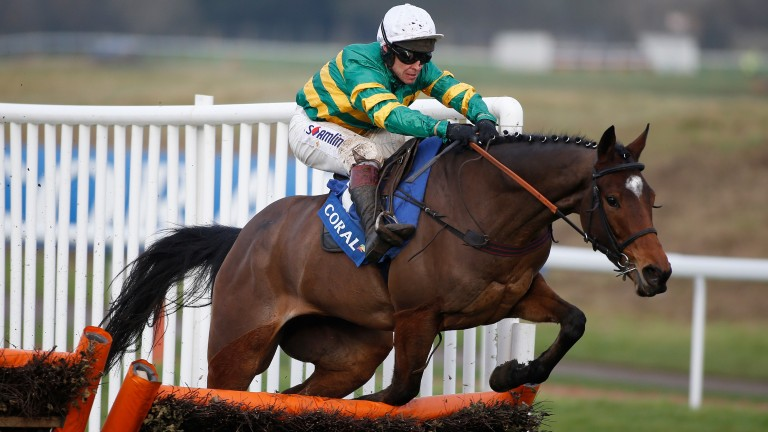 Defi Du Seuil, pictured on the way to victory in the Finale Juvenile Hurdle at Chepstow, could have one more outing before the Triumph Hurdle