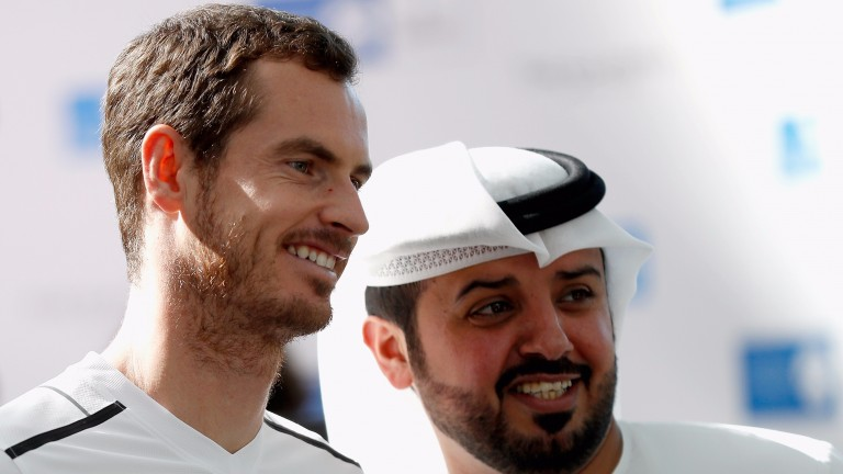 Andy Murray is looking fit and well in Abu Dhabi