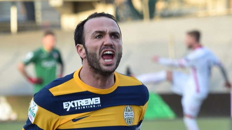 Hellas Verona's leading scorer Giampaolo Pazzini has bagged 15 league goals this term