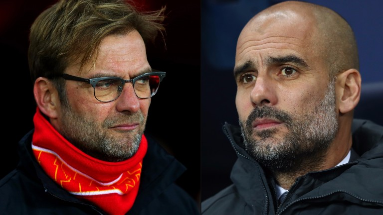 Liverpool's Jurgen Klopp (left) and Manchester City's Pep Guardiola go head-to-head