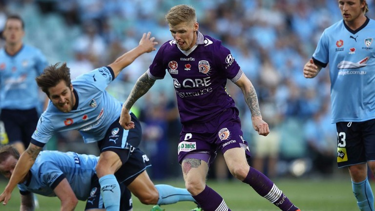 Andy Keogh is Perth Glory's leading scorer with eight goals