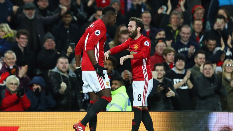 Manchester United duo Paul Pogba and Juan Mata