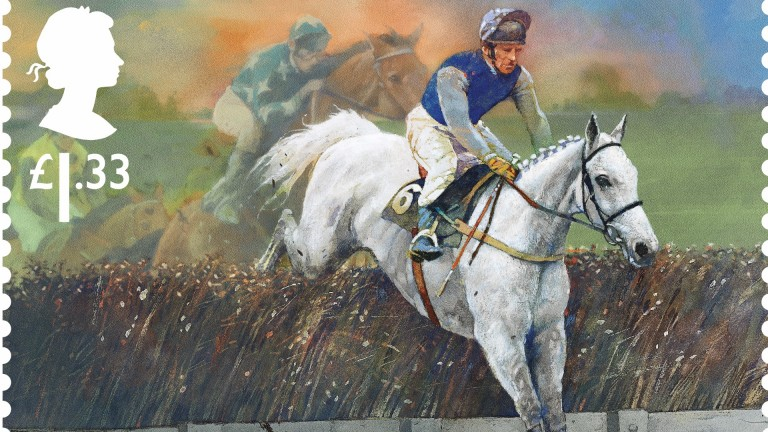 The Desert Orchid stamp set to be issued by the Royal Mail in April