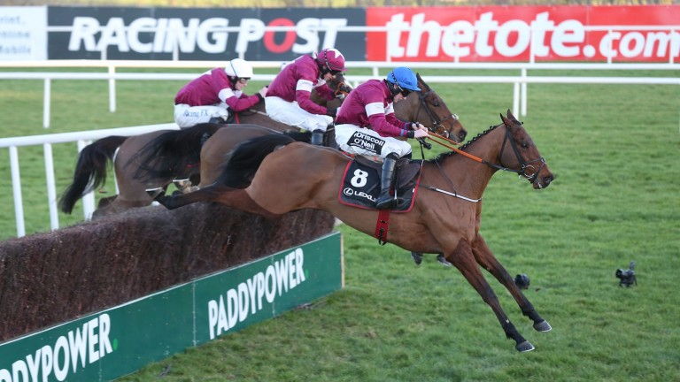 Outlander (leading) and Valseur Lido (centre) represent Gigginstown House Stud's best chances of victory in the Gold Cup according to Eddie O'Leary