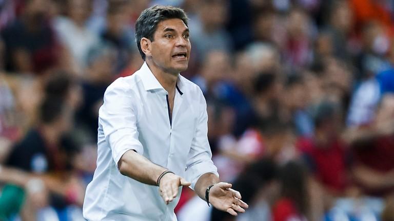 Mauricio Pellegrino urges on his Alaves side