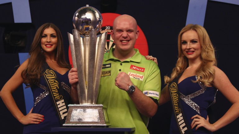 Michael van Gerwen celebrates winning the 2017 William Hill World Darts Championship