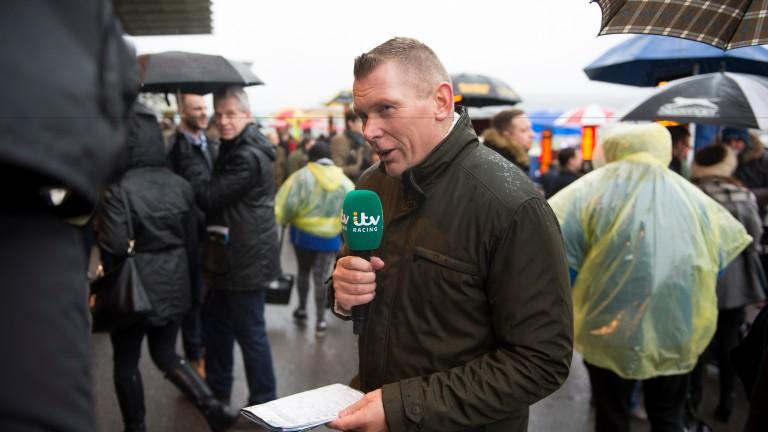 Matt Chapman in the betting ring at Cheltenham on New Year's Day