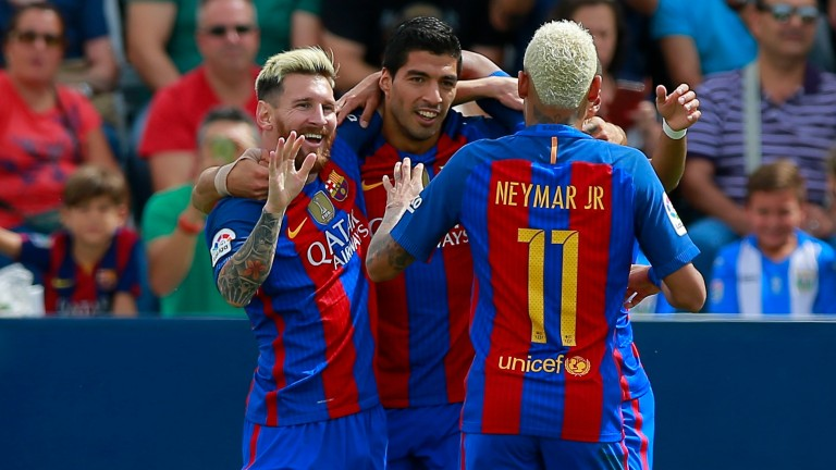 Lionel Messi, Luis Suarez and Neymar are all in the squad for this cup tie