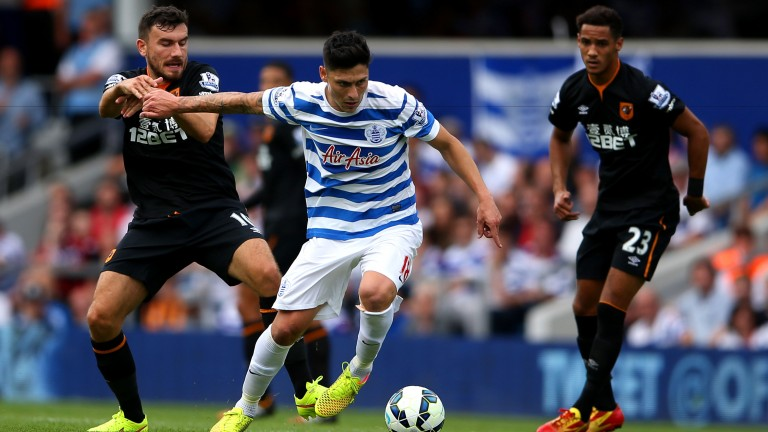 Former QPR midfielder Alejandro Faurlin (centre) is now a key part of Getafe's talented side