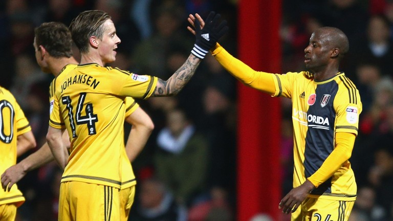 Fulham's Stefan Johansen (left) and Sone Aluko are in good form