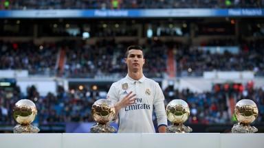 Real Madrid's Cristiano Ronaldo has won the Ballon d'Or four times