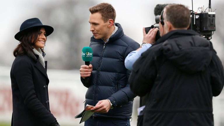 """Oli Bell talks to weather presenter Lucy Verasamy at Sandown. Of the first Opening Show, he said: """"It was our first go and there's lots we as a team can improve on off the back of an encouraging first crack of the whip"""""""