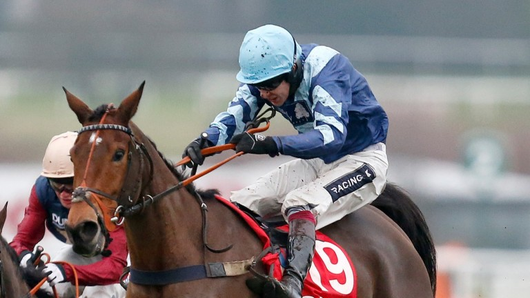 Pete the Feat and Aidan Coleman on the way to victory at Sandown