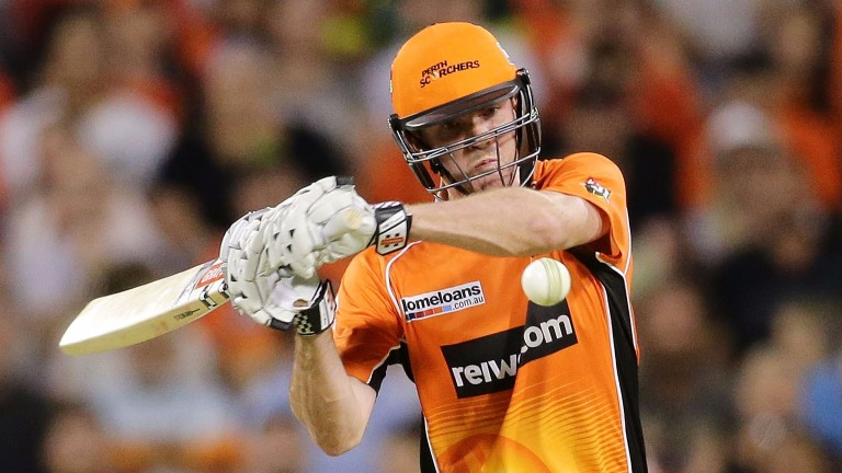 Ashton Turner is action against the Sydney Thunder