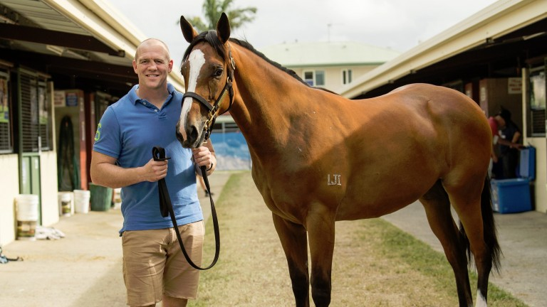 Mike Tindall with the Pierro filly that cost A$220,000