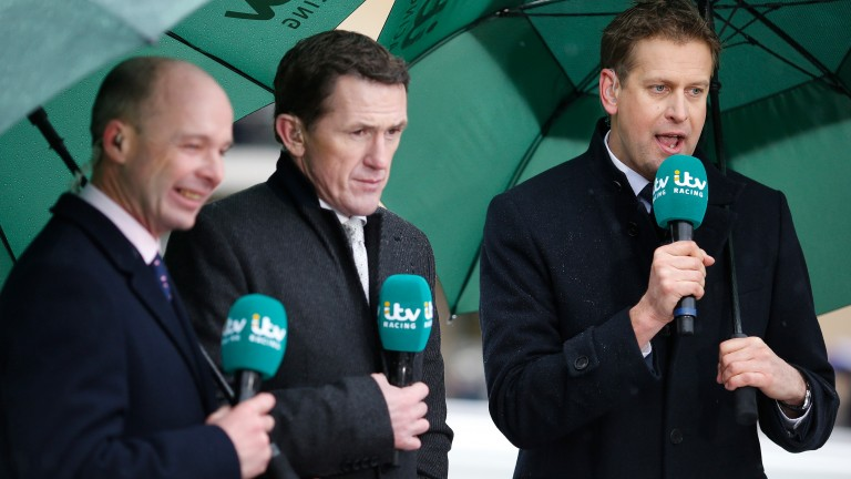 Sticky wicket: (Right to left) Ed Chamberlin, Sir Anthony McCoy and Luke Harvey