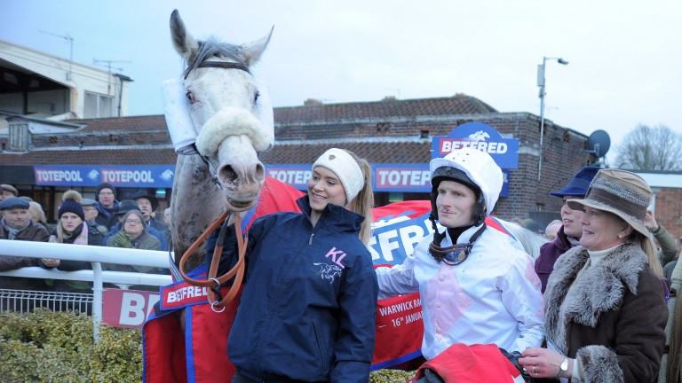 Russe Blanc after landing the Classic Chase at Warwick last season