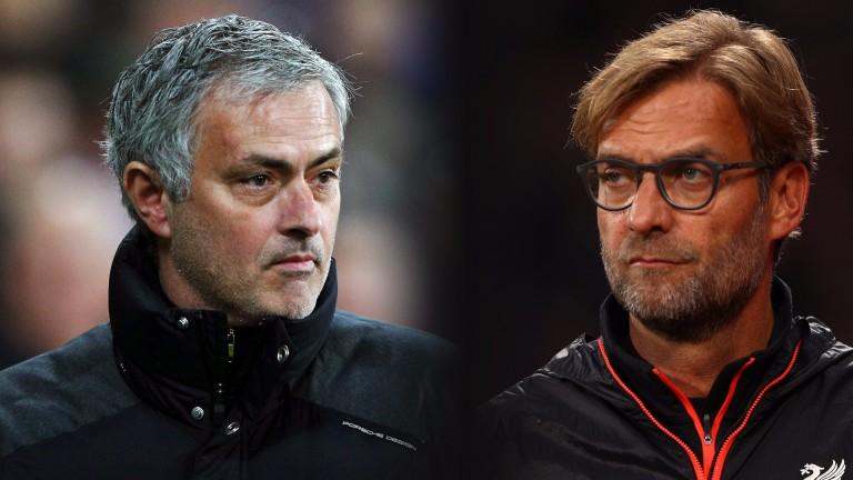 Jose Mourinho and Jurgen Klopp meet at Old Trafford on Sunday