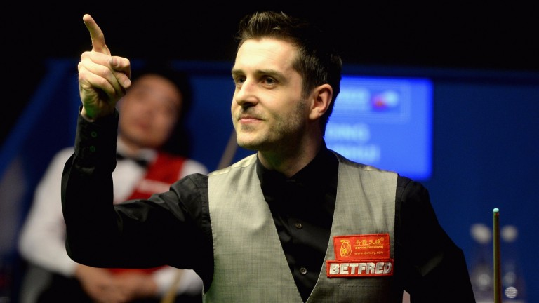 Mark Selby celebrates during the World Championship final