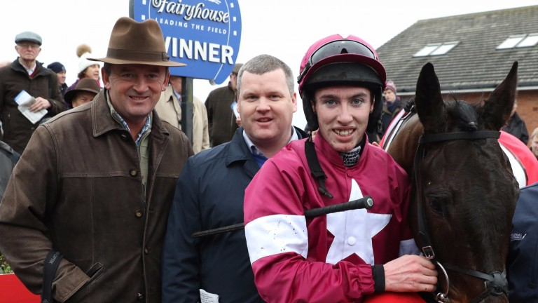Ball D'Arc with Gigginstown's Eddie O'Leary (left), trainer Gordon Elliott and Jack Kennedy after their big-race success