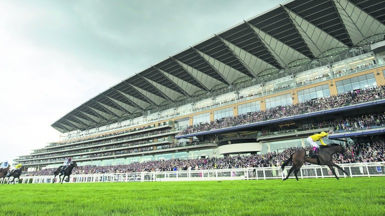 The Ascot grandstand as it would look from a position in the new Village enclosure
