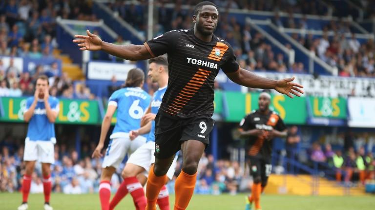 Barnet's John Akinde has scored 18 league goals this season