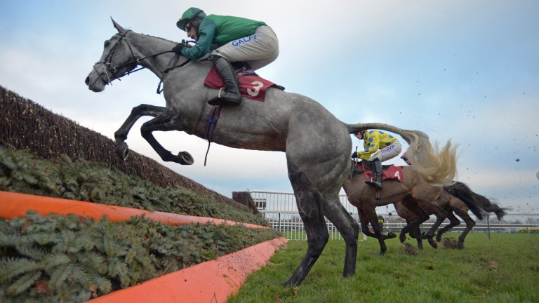 Bristol De Mai gets in close to a fence during his Peter Marsh Chase victory at Haydock