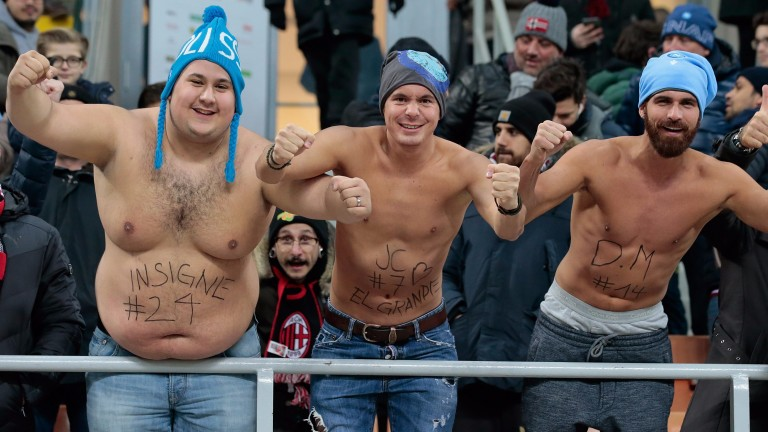 Napoli's supporters have enjoyed themselves this season