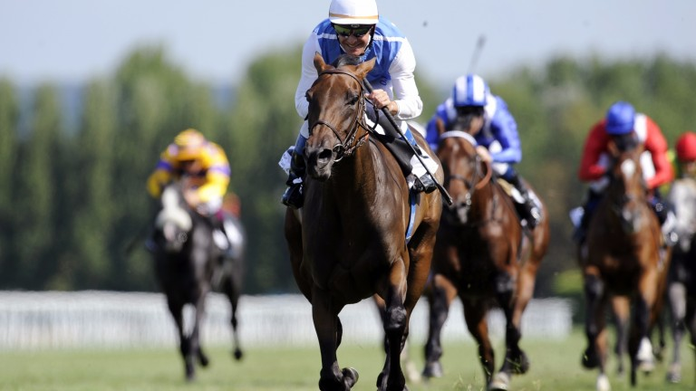 In a class of her own, Goldikova comes home six lengths clear in the 2009 Prix Jacques le Marois