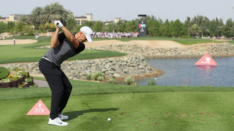 Alex Noren in action at Abu Dhabi