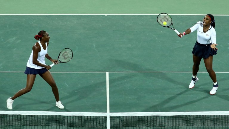 Venus and Serena are on opposite ends of the court for the 28th time