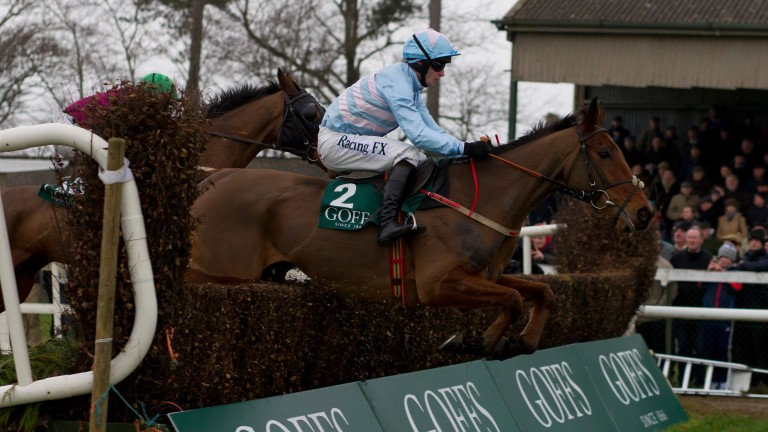 Champagne West en route to Goffs Thyestes Chase glory under David Mullins