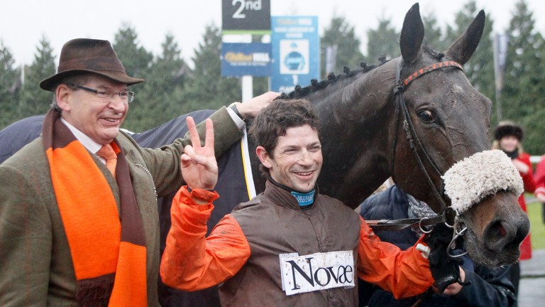 Robert Waley-Cohen with jockey son Sam and Long Run after their second King George triumph in 2013