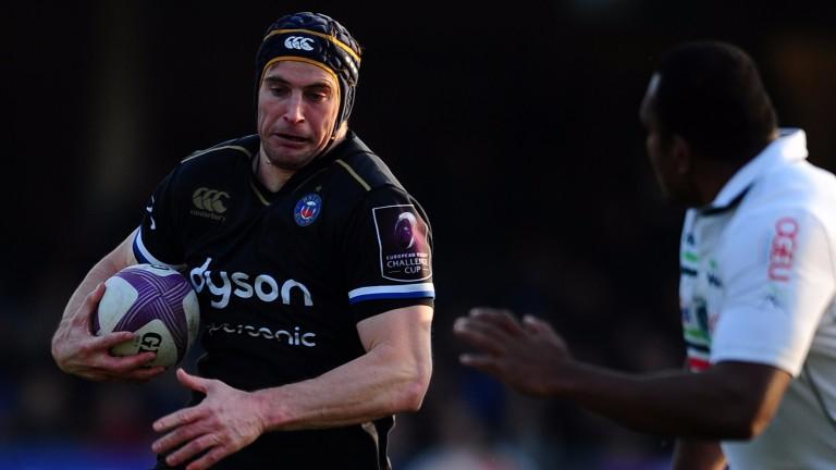 Paul Grant of Bath makes a break against Pau