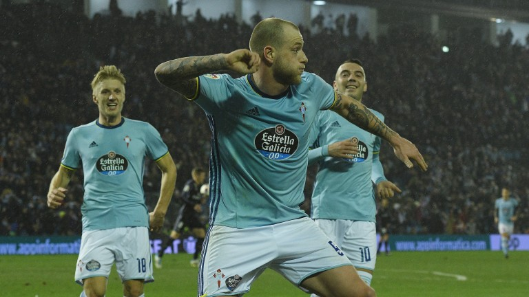 Celta Vigo celebrate knocking Real Madrid out of the Copa del Rey