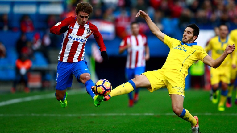 Antoine Griezmann netted for Atletico Madrid in Bilbao