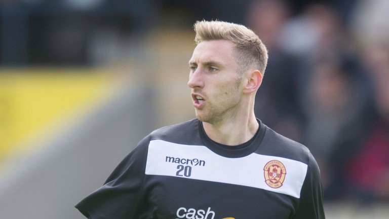 Motherwell's Louis Moult is a real handful