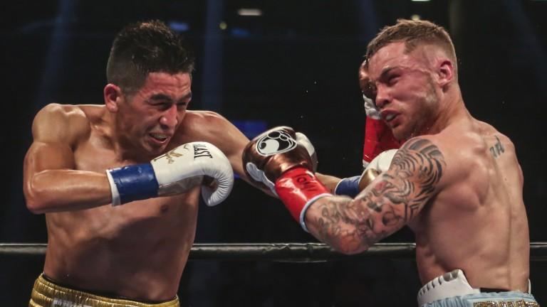 Leo Santa Cruz and Carl Frampton exchange blows